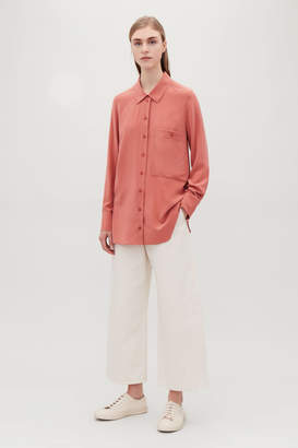 Cos SILK SHIRT WITH PATCH POCKET