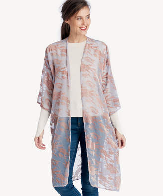 Sole Society Women's Printed Velvet Kimono Lilac Combo One Size Polyester From