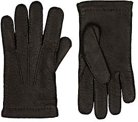 Barneys New York MEN'S CASHMERE-LINED LEATHER GLOVES