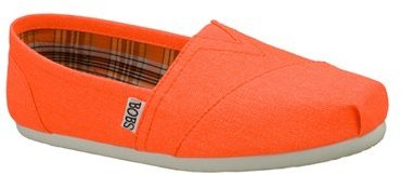 Skechers Womens Bobs Zing Orange Slip