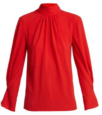 Emilia Wickstead Venice Crepe Blouse - Womens - Red