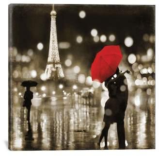 """A Paris Kiss by Kate Carrigan Canvas Print - 26\""""x26\"""""""