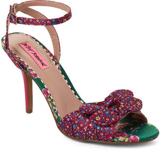 97395681bec Betsey Johnson Magenta Sweetie Floral Ankle Strap Sandals