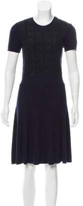 Valentino Lace Paneled A-Line Dress
