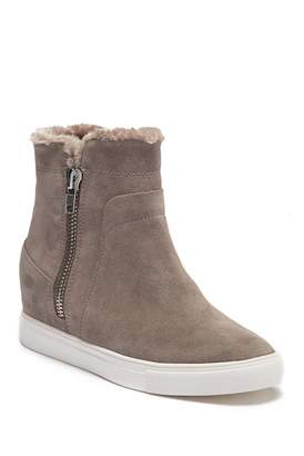 Steven Ceal Hidden Wedge Faux Fur Sneaker