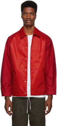 Comme des Garcons Homme Homme Red Laminated Water Jacket