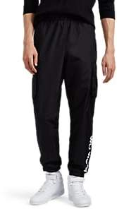 Wu Wear Men's Logo Cargo Track Pants - Black