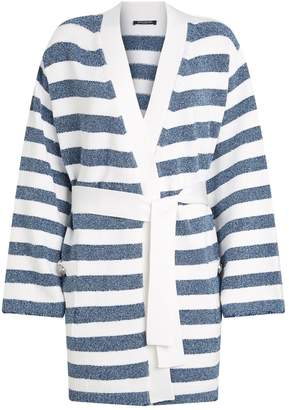 Balmain Lurex Striped Kimono Cardigan