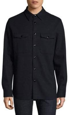 Rag & Bone Raw Edge Button-Down Shirt