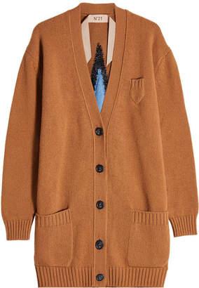 N°21 N21 Star-Intarsia Wool Cardigan