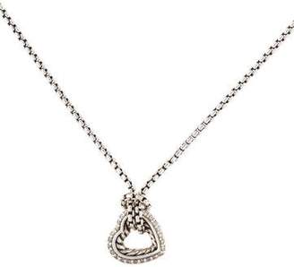 David Yurman Diamond Medium Cable Heart Pendant Necklace