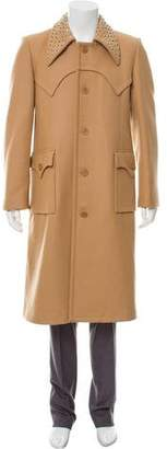 J.W.Anderson Studded Collar Wool Overcoat