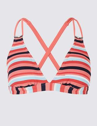 Marks and Spencer Striped Plunge Bikini Top