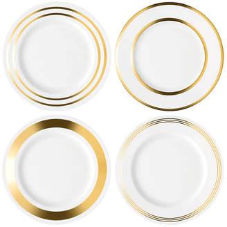 LSA International Set Of 4 Deco Porcelain Dinner Plates