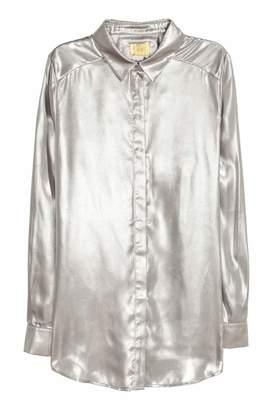 H&M Shimmering Metallic Shirt