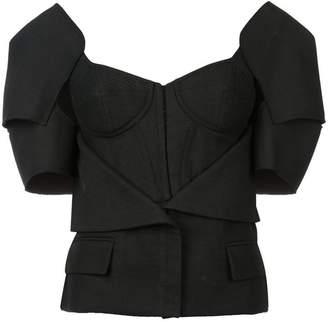 Vera Wang bustier jacket