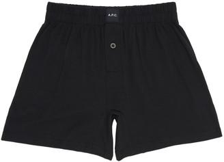 A.P.C. Black Cabourg Boxers $40 thestylecure.com