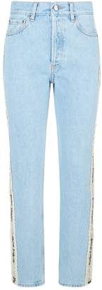 Palm Angels Flower Tape Jeans