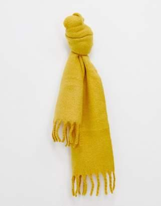 Miss Selfridge oversized scarf in ochre