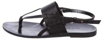 Valia Gabriel Leather Thong Sandals