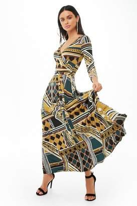 Forever 21 Multi-Print Maxi Dress