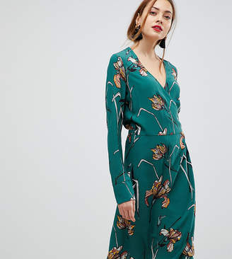 Y.A.S Tall Floral Print Wrap Dress