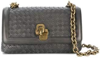Bottega Veneta light grey Intrecciato nappa top Olimpia knot bag 52ee1451310d0