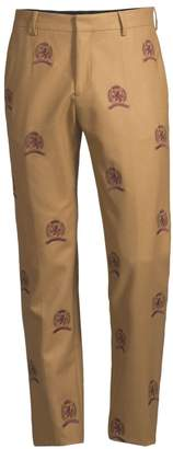 Tommy Hilfiger Edition Allover Embroidered Crest Wool Trousers