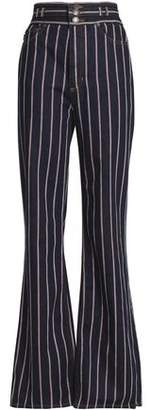 Marc Jacobs Striped High-Rise Bootcut Jeans