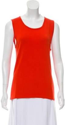 Oscar de la Renta Lightweight Cashmere Top Orange Lightweight Cashmere Top