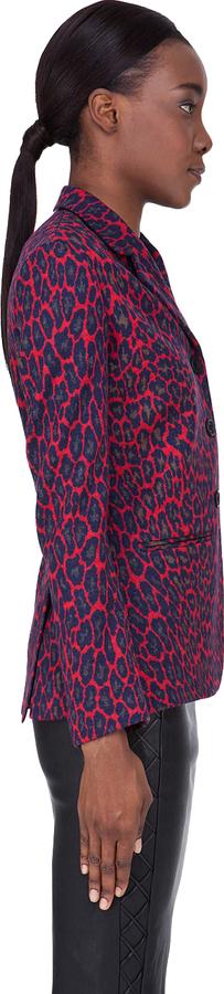 Christopher Kane Red Wool Leopard Blazer