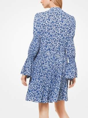 MICHAEL Michael Kors Floral Crepe Shirtdress