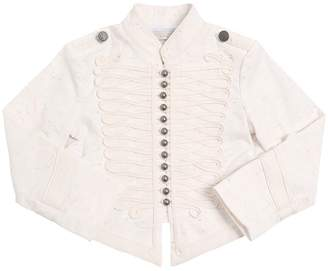 Stella McCartney Military Stretch Cotton Slub Jacket