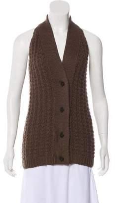 MM6 MAISON MARGIELA Wool Sleeveless Cardigan