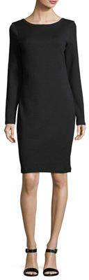 James Perse Scoop-Back Long-Sleeve Skinny Dress