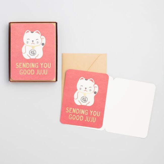 Lucky Cat Notecards Set of 8
