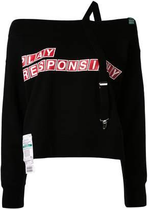 Puma Maison Yasuhiro Suspender off the shoulder sweatshirt