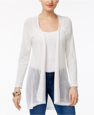 Style & Co High-Low Lightweight Cardigan, Only at Macy's $59.50 thestylecure.com