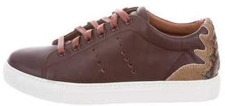 Lola Cruz Leather Low-Top Sneakers