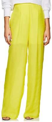 Juan Carlos Obando Women's Washed Satin Wide-Leg Pants - Yellow