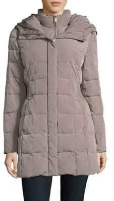 Cole Haan Zip Front Down Filled Puffer Coat
