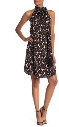 Trina Turk Iman Silk Blend Print Dress