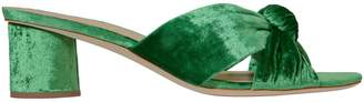 Loeffler Randall Celeste Emerald Green Slide Sandals