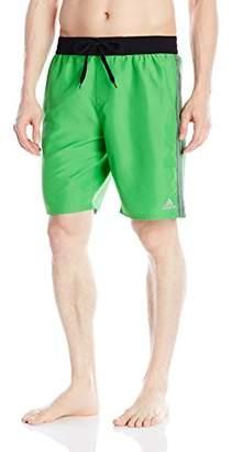 adidas Men's Iconic 3 Stripe Volley Swim Trunk
