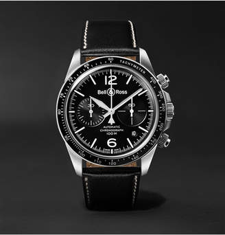 Bell & Ross Br V2-94 Automatic Chronograph 41mm Stainless Steel And Leather Watch