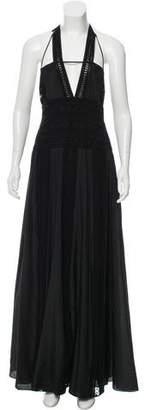 Thakoon Crochet-Accented Halter Dress