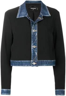 DSQUARED2 denim trimmed jacket