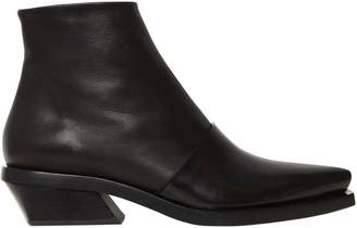 Proenza Schouler 30mm Layered Brushed Leather Boots