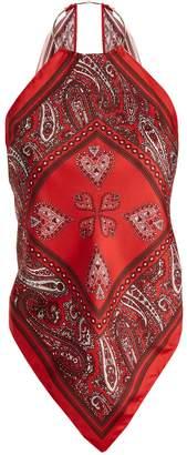 Diane von Furstenberg Beckerman halterneck scarf top