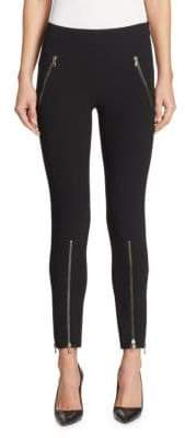 Moschino Jersey Cropped Zip Pants